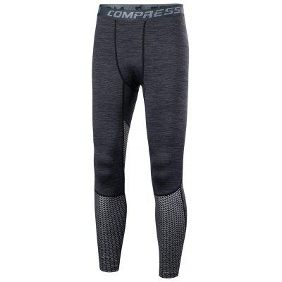 Checkered Compression Tights Athletic Pants
