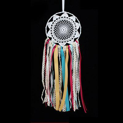 Handmade Crochet Lace Dreamcatcher Multicolor Fringed For Decoration