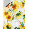 Sunflower String High Low Mini Dress - YELLOW