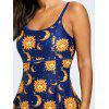 Skirted Sun Pattern One Piece Swimsuit - COLORMIX