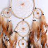 Beaded Feather Handmade Dreamcatcher For Decoration - CAPPUCCINO