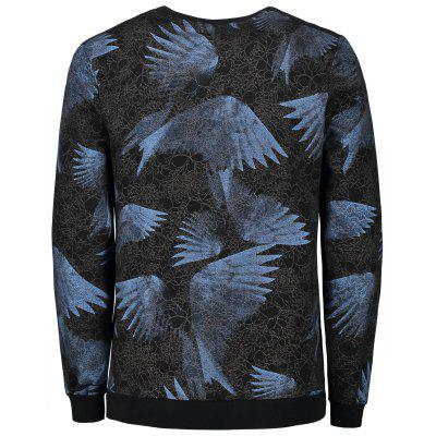 Foldover Paper Spider Web Print SweatshirtMens Hoodies &amp; Sweatshirts<br>Foldover Paper Spider Web Print Sweatshirt<br><br>Material: Polyester<br>Package Contents: 1 x Sweatshirt<br>Shirt Length: Regular<br>Sleeve Length: Full<br>Style: Fashion<br>Weight: 0.7400kg