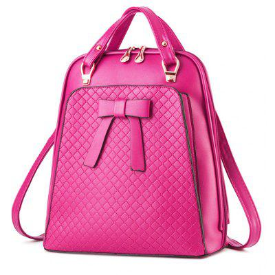 Bowknot Quilted PU Leather BackpackBackpacks<br>Bowknot Quilted PU Leather Backpack<br><br>Closure Type: Zipper<br>Embellishment: Bow<br>Gender: For Women<br>Handbag Size: Medium(30-50cm)<br>Handbag Type: Backpack<br>Main Material: PU<br>Occasion: Versatile<br>Package Contents: 1 x Backpack<br>Pattern Type: Bows<br>Size(CM)(L*W*H): 29*12*31CM<br>Style: Fashion<br>Weight: 1.2000kg