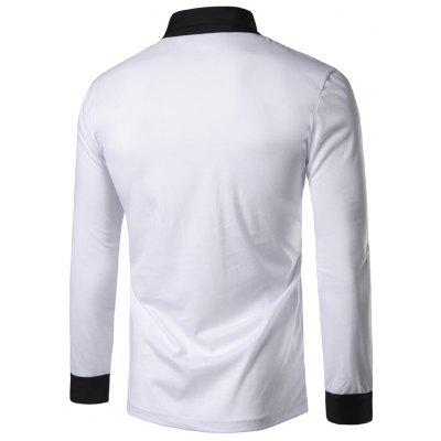 Shawl Collar Panel Design Long Sleeve T-shirtMens Long Sleeves Tees<br>Shawl Collar Panel Design Long Sleeve T-shirt<br><br>Collar: V-Neck<br>Embellishment: Button<br>Material: Cotton, Polyester<br>Package Contents: 1 x T-shirt<br>Pattern Type: Color Block<br>Season: Fall, Winter<br>Sleeve Length: Full<br>Style: Fashion, Casual, Streetwear<br>Weight: 0.2700kg