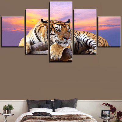 Sunset Tiger Printed Unframed Canvas Wall Art Paintings