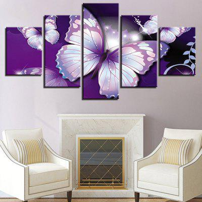 Butterflies Printed Decorative Canvas Wall Art Paintings