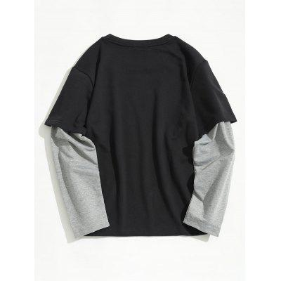Crew Neck Underlay Sleeve SweatshirtMens Hoodies &amp; Sweatshirts<br>Crew Neck Underlay Sleeve Sweatshirt<br><br>Material: Cotton, Polyester<br>Package Contents: 1 x Sweatshirt<br>Pattern Type: Patchwork<br>Shirt Length: Regular<br>Sleeve Length: Full<br>Style: Casual<br>Weight: 0.4900kg