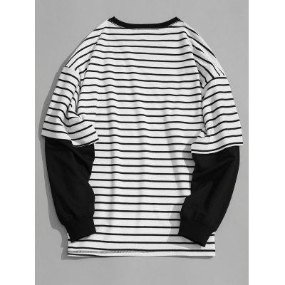 Striped Dfnn Graphic SweatshirtMens Hoodies &amp; Sweatshirts<br>Striped Dfnn Graphic Sweatshirt<br><br>Material: Cotton, Polyester<br>Package Contents: 1 x Sweatshirt<br>Pattern Type: Striped<br>Shirt Length: Regular<br>Sleeve Length: Full<br>Style: Casual<br>Weight: 0.5200kg