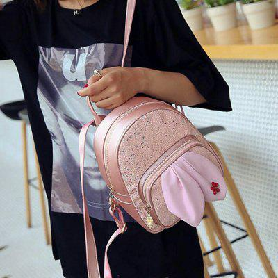 Sequined Rabbit Ear BackpackBackpacks<br>Sequined Rabbit Ear Backpack<br><br>Closure Type: Zipper<br>Gender: For Women<br>Handbag Size: Small(20-30cm)<br>Handbag Type: Backpack<br>Interior: Interior Zipper Pocket<br>Main Material: PU<br>Occasion: Versatile<br>Package Contents: 1 x Backpack<br>Pattern Type: Patchwork<br>Size(CM)(L*W*H): 22*10*26CM<br>Style: Fashion<br>Weight: 0.6000kg