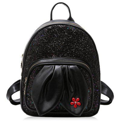 Sequined Rabbit Ear Backpack