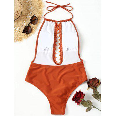 Beading Low Back One Piece SwimsuitLingerie &amp; Shapewear<br>Beading Low Back One Piece Swimsuit<br><br>Bra Style: Padded<br>Elasticity: Elastic<br>Embellishment: Backless<br>Gender: For Women<br>Material: Nylon, Spandex<br>Neckline: Halter<br>Package Contents: 1 x Swimsuit<br>Pattern Type: Solid Color<br>Style: Sexy<br>Support Type: Wire Free<br>Swimwear Type: One Piece<br>Waist: Natural<br>Weight: 0.3000kg