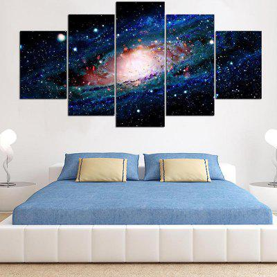 Cosmic Starry Sky Pattern Decorative Canvas Wall Art Paintings