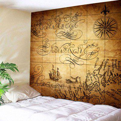 Nautical Print Wall Hanging Vintage Tapestry