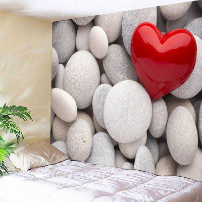 Pebbles Love Heart Pattern Wall Hanging Tapestry