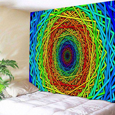 Abstract Psychedelic Geometric Pattern Wall Art Tapestry - $8.21 ...