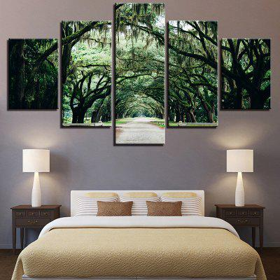 Forest Pathway Printed Decorative Wall Art Canvas Paintings