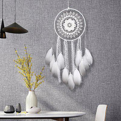 Handmade Lace Feathers Dream Catcher Wall Hanging Decor
