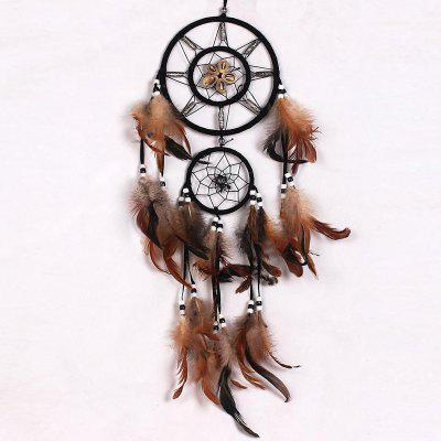 Handmade Feathers Fringed Native American Dream Catcher Wall Hanging