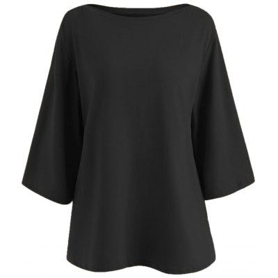 Plus Size Bell Sleeve Simple T-shirt
