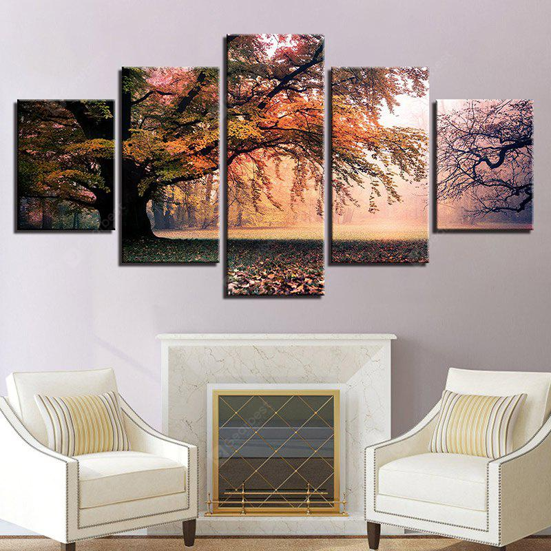 Forest Grassland Printed Canvas Split Wall Art Paintings