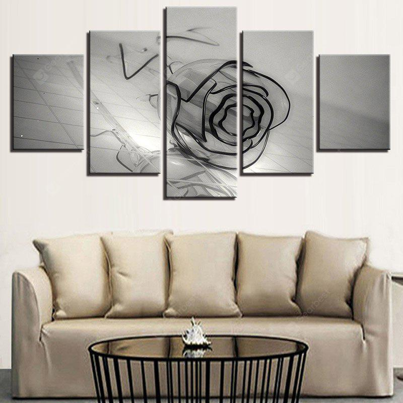 Glass Rose Printed Canvas Unframed Wall Art Paintings
