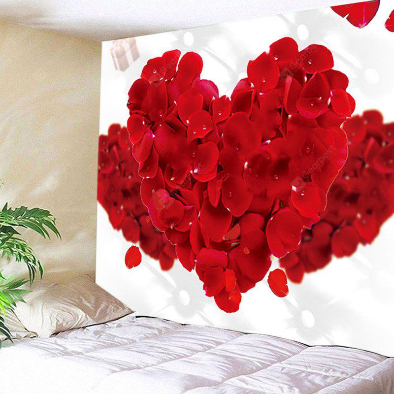 Valentine's Day Rose Petals Hearts Pattern Wall Hanging Tapestry