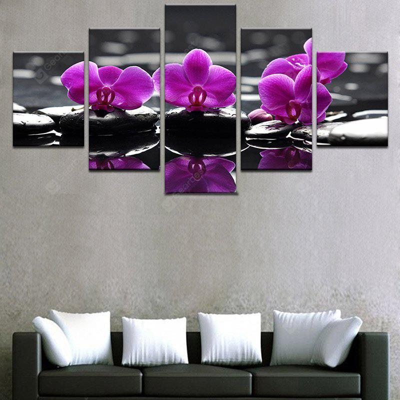 Flower Reflection Printed Split Unframed Canvas Paintings