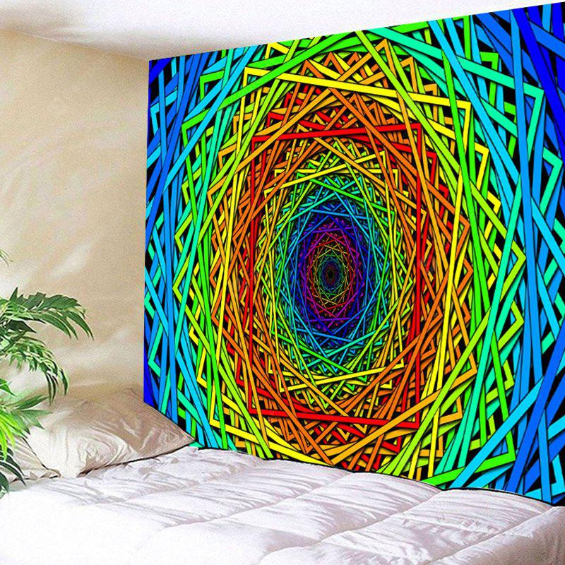 Abstract Psychedelic Geometric Pattern Wall Art Tapestry