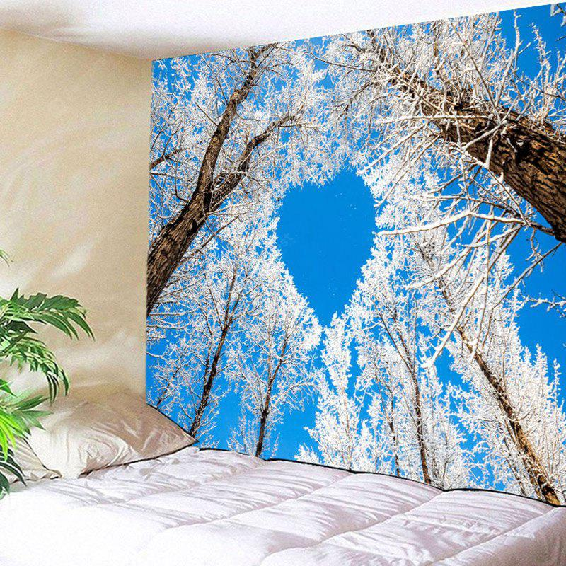 Winter Tree Heart Pattern Wall Hanging Tapestry