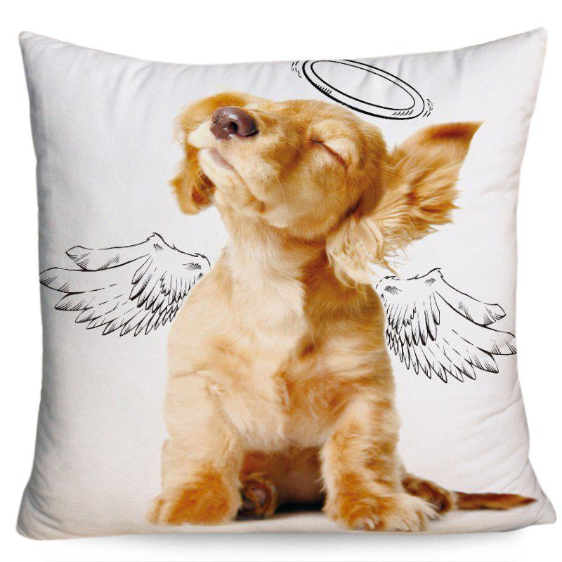Angel Dog Pattern Square Throw Pillowcase