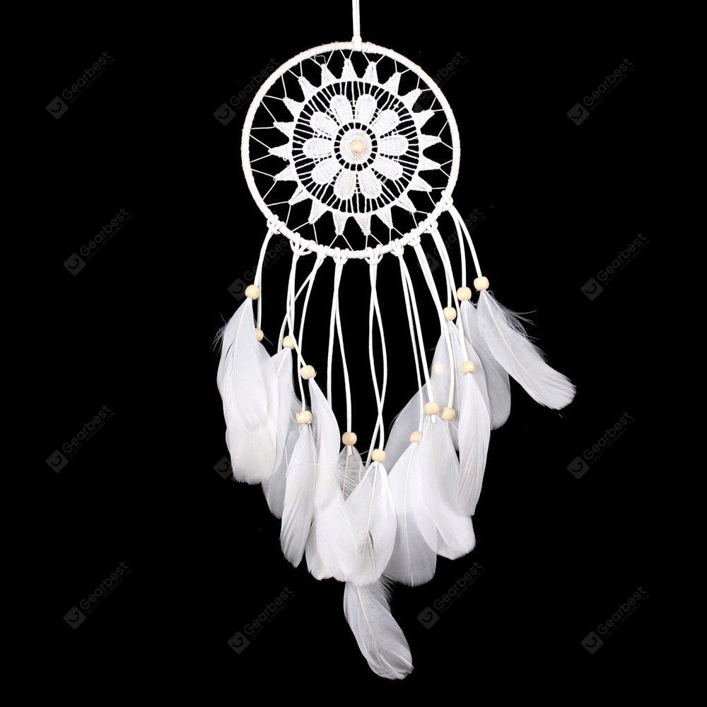 Wooden Bead Lace Feather Hanging Handmade Decoration Dreamcatcher