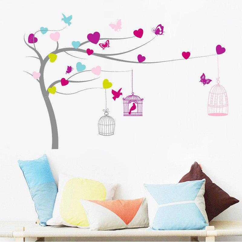 Love Tree with Birds and Butterfly Pattern Home Decoration Wall Stickers
