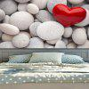Pebbles Love Heart Pattern Wall Hanging Tapestry - COLORMIX