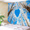 Winter Tree Heart Pattern Wall Hanging Tapestry - COLORMIX