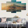 Lakeside Mountains Printed Unframed Canvas Wall Art Paintings - COLORFUL
