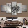 Glass Rose Printed Canvas Unframed Wall Art Paintings - GRAY