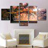 Forest Grassland Printed Canvas Split Wall Art Paintings - COLORFUL