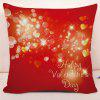 Valentine's Day Love Hearts Print Square Pillowcase - RED