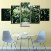 Forest Pathway Printed Decorative Wall Art Canvas Paintings - GREEN