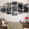 Gorgeous Horses Printed Canvas Split Wall Art Paintings - GRAY