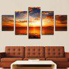 Sunset Seascape Printed Unframed Canvas Wall Art Paintings - COLORFUL