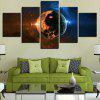 Universe Space Planets Printed Canvas Wall Art Paintings - COLORFUL