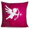 Valentine's Day Cupid Pattern Decorative Pillowcase - PURPLISH RED