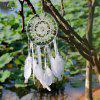 Handmade Lace Feathers Dream Catcher Wall Hanging Decor - WHITE