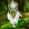 Wooden Bead Lace Feather Hanging Handmade Decoration Dreamcatcher - WHITE