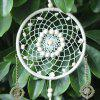 Handmade Feather Faux Turquoise Beaded Dreamcatcher - MILK WHITE