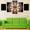 Diamond Flower Pattern Wall Art Canvas Paintings - COLORFUL