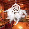 Lace Feather Hanging Handmade Dreamcatcher Ornament - WHITE