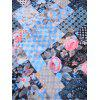Vintage Floral Blooms Printed Long Sheer Scarf - ROYAL