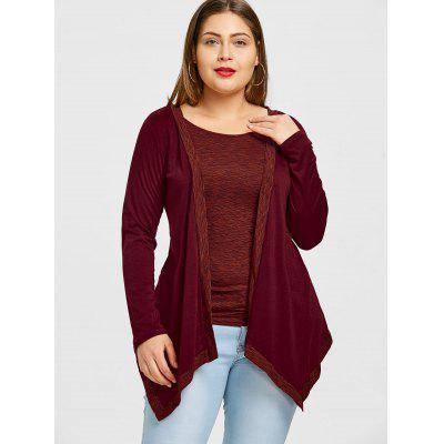 Plus Size Heather Asymmetrical T-shirtPlus Size Tops<br>Plus Size Heather Asymmetrical T-shirt<br><br>Collar: Round Neck<br>Material: Polyester<br>Package Contents: 1 x T-shirt<br>Pattern Type: Others<br>Season: Spring, Fall<br>Shirt Length: Regular<br>Sleeve Length: Full<br>Style: Fashion<br>Weight: 0.3300kg